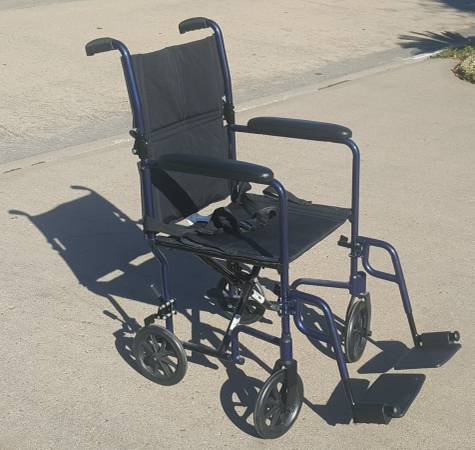 Photo Nova Transport Chair Lightweight with Footrests, 300 Lbs, 19quot Black - $145 (NW Cy Fair)