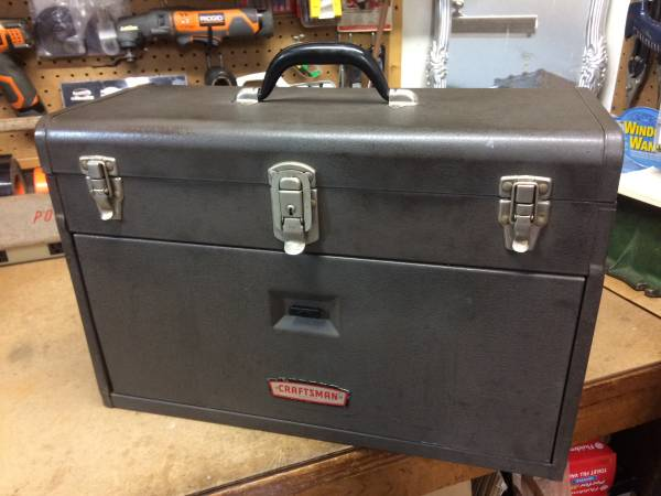 Photo Old Vintage HEAVY Metal CRAFTSMAN 7-Drawer MACHINIST Tool Box Chest - $150 (Tomball)