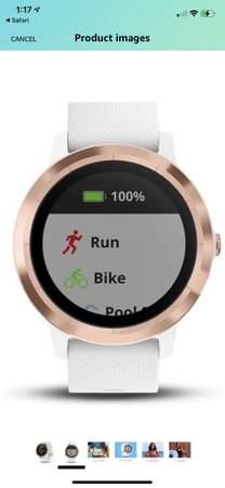 Photo Rose Gold Garmin Vivoactive 3 GPS Smart watch With Buick-in Sports Apps - $150 (Sugar Land)