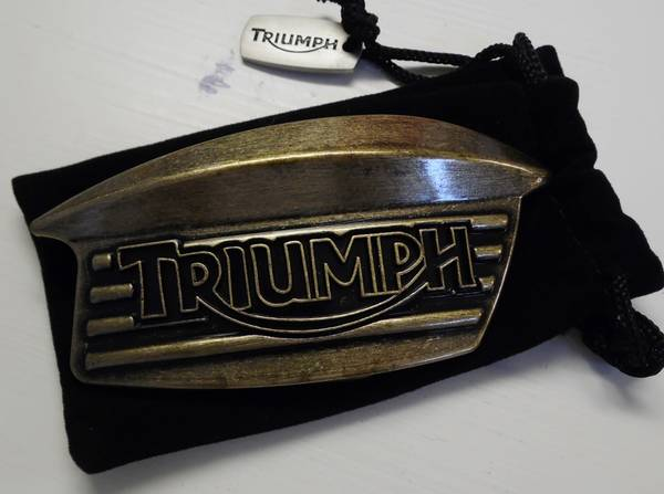 Photo Triumph Motorcycle Belt Buckle - $20 (Spring)