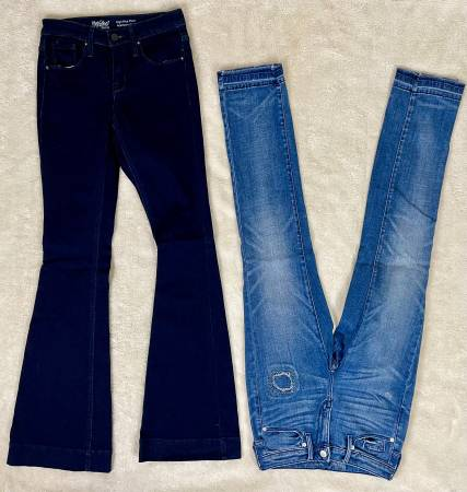 Photo Two Pairs Mossimo Jeans Size 0 (Waist 25) - $10 (Katy Creek Ranch Plaza)