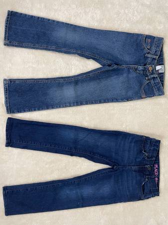 Photo Two Pairs New  Used Girls Size 6 Childrens Place Jeans, Gymboree Top - $7 (Katy Creek Ranch Plaza)
