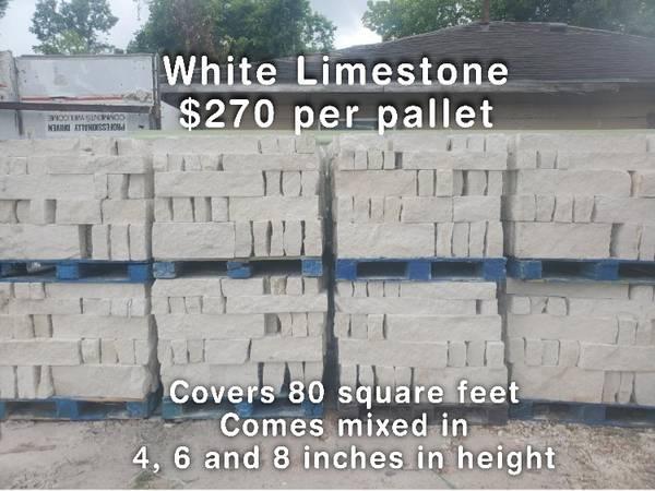 Photo White Austin Limestone - $270 per pallet - Piedra Blanca Natural - $270 (59 North and Tidwell)