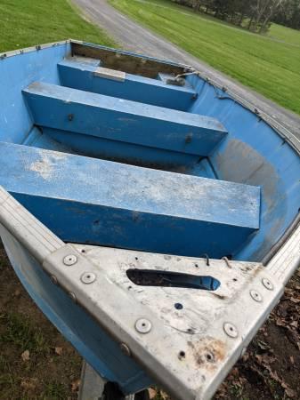 Photo 14 Foot Alumiline Boat with Teene Trailer Boat 1984 - $825 (Wallkill)