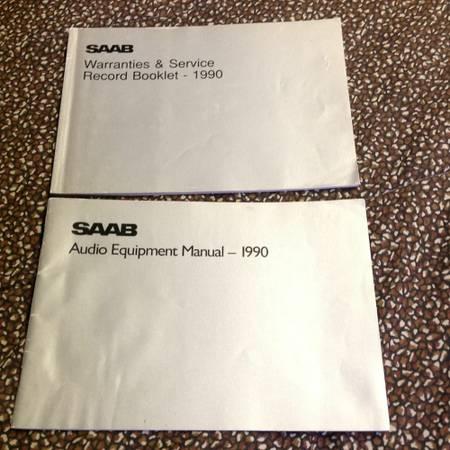 Photo 1990 Saab 900 Turbo audio equipment manual warranties  service record - $60 (Rockland County)