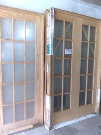 Photo (3) New Interior French Door Lite Clear Wood Pine Prehung (Goshen)