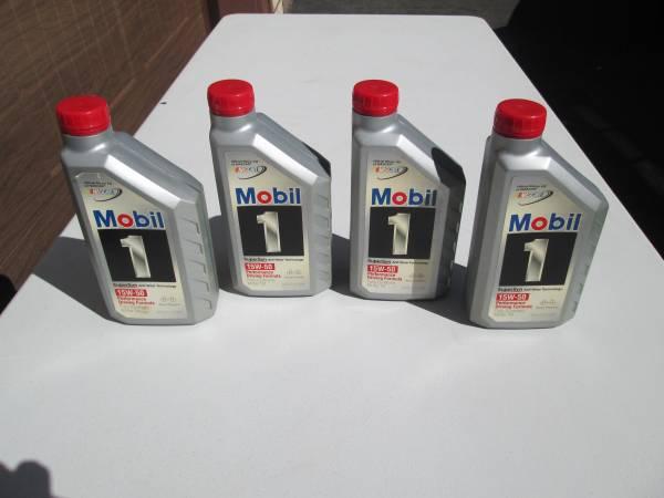 Photo 4 Quarts of mobile 1 full synthetic 15W-50 motor oil - $20 (Kingston ny)