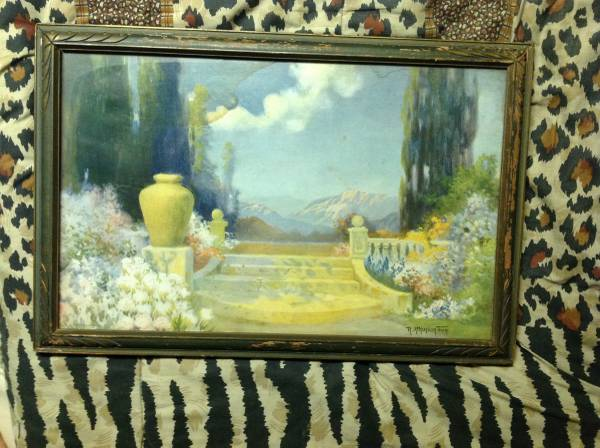 Photo Antique Art Deco R Atkinson Fox DREAMLAND Lithograph Print Framed - $100 (Rockland County)