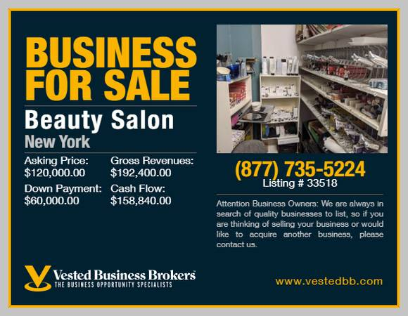 Photo Beauty Salon for sale in Rockland County 33518 - $120,000 (Rockland County, NY)