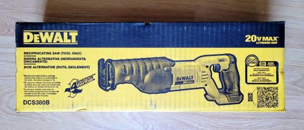 Photo Dewalt 20v MAX Cordless Reciprocating Sawzall (Tool Only) - DCS380 - $85 (Elizaville)