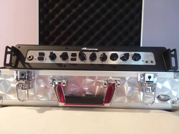 Photo Dr. Bass custom pro bass cabinet and Ampeg PF-800 Amp - $350 (High Falls)