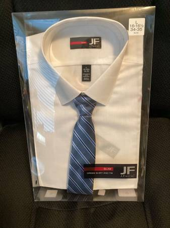 Photo Dress shirt with Tie Size L 16-16 12 34-35 - $15 (Verbank Millbrook)