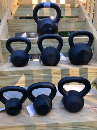 Photo For sale Kettlebells Various sizes brand new black powder coated - $2