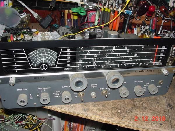 Photo HAM RADIO  SHORTWAVE RECEIVER HALLICRAFTERS SX-110 RECEIVER $135 - $135 (cbell hall)