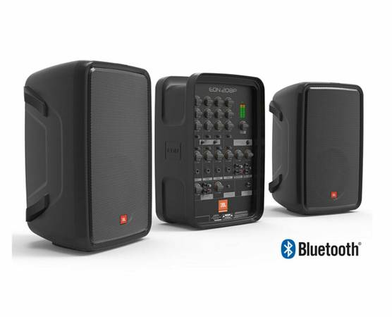 Photo JBL EON208P - 300 Watt Portable PA System w 8-Chnl Mixer Bluetooth - $400 (Poughkeepsie)