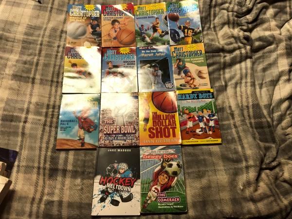 Photo Lot of 14 Grade School Kids Sports Basketball Baseball Paperback Books - $25 (Rockland County)