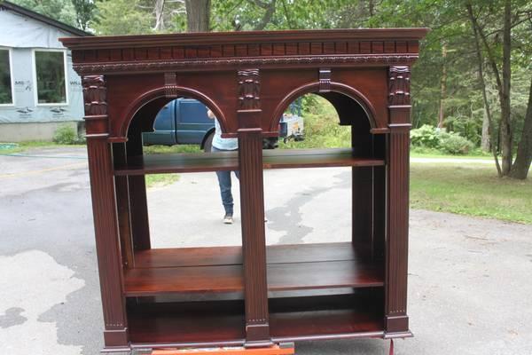 Mirrored Bookshelf Bar Back 400 Red