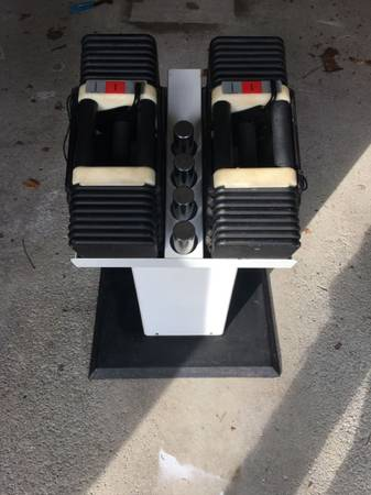 Photo Powerblock 90 Lb Dumbbells with Stand - $475 (Northern Westchester - Putnam)