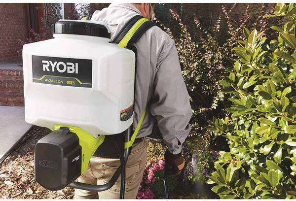 Photo Ryobi 4 gallon backpack sprayer with battery  charger - $120 (eldred)