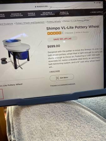 Photo Shimpo VL lite pottery wheel - $599 (Cortlandt Manor)