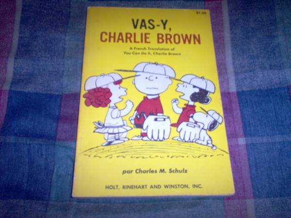 Photo VAS-Y CHARLIE BROWN (Peanuts book from France) 1969 - $10 (New Paltz)