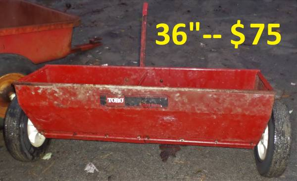 Photo WHEEL HORSE TRACTOR DROP SPREADERSEEDER - $75 (SAUGERTIES, NY)