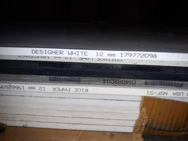 Photo corian slabs 30 inch x 12 ft. x 12 - $250 (westtown)