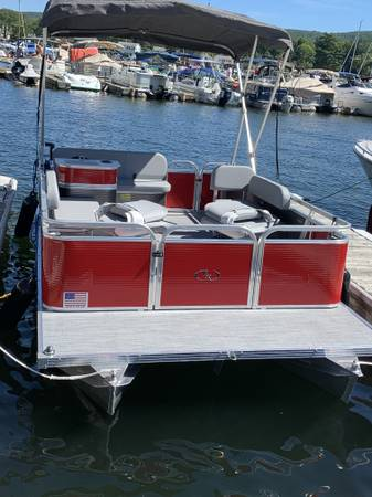 Photo like-new Pontoon Boat for sale - $18,000 (Greenwood Lake)
