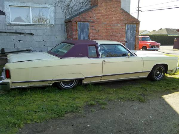 Photo 1977 Lincoln Continental Town Coupe - $4500 (Eureka)