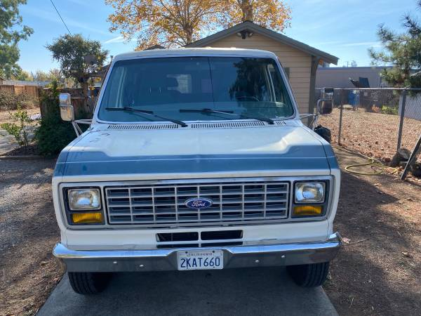 Photo 1987 Ford E350 Van One Ton Heavy Duty Well Cared For - $4,500 (Santa Rosa)