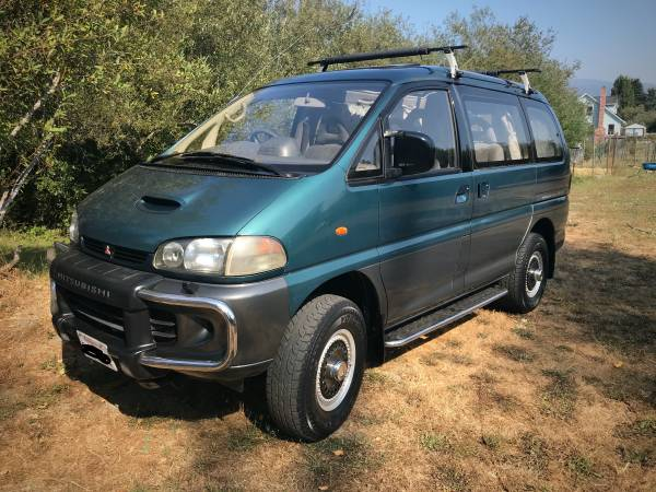 Photo 1994 Mitsubishi Delica 4x4 van with CA registration - $20,000 (Arcata)