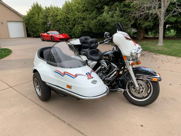 Photo 1998 Harley Davidson Electra glide FLH with sidecar - $8,000 (Chico)