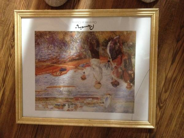 Photo 22 x 18 inch Picture Frame with Gold Wood Trim (Arcata)