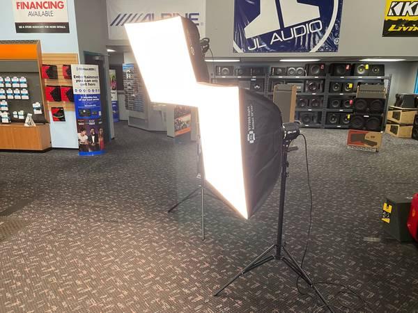 Photo 2- Complete Photography  Video Lighting 1000 Watt Softbox  Tripods - $350 (Grants Pass  Medford)