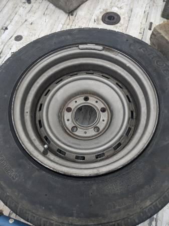 Photo 4 Chevy rally wheels. 5-5 lug pattern - $50 (Rio Dell)