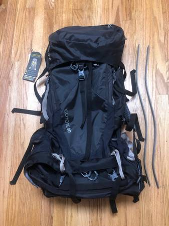 Photo Backpack- 80L black backpacking Kelty (Coyote80) - $175 (Eureka)