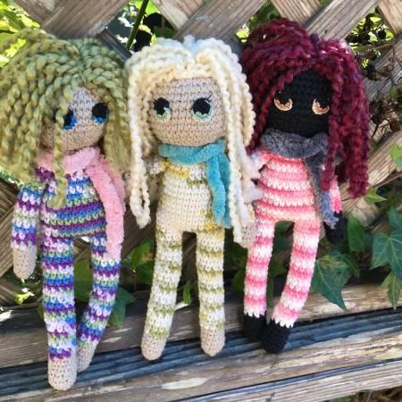 Photo Crochet dolls- Winter tie dye collection - $45 (Arcata)