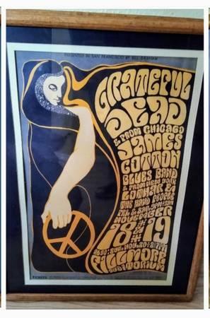 Photo Grateful Dead original concert poster Wes Wilson Bill Graham 1966 (BG-38) - $500 (Crescent City)