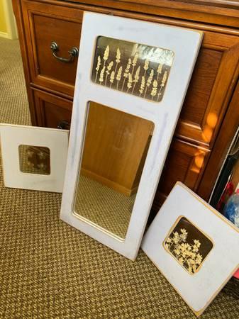 Photo Pottery barn mirror and pressed flower set - $25 (Eureka to McKinleyville)