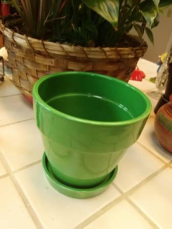 Photo pots -ceramic  plastic - $5 (Ocean West - McK)