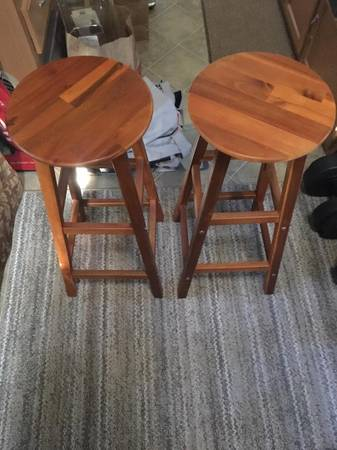 Photo set of two bar stools - $40 (MCKINLEYVILLE)