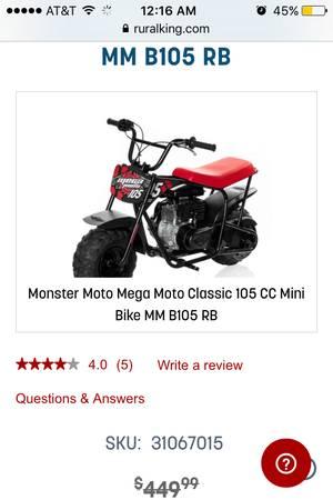 Photo Mini bike like this one forsale - $300 (Huntington wv)