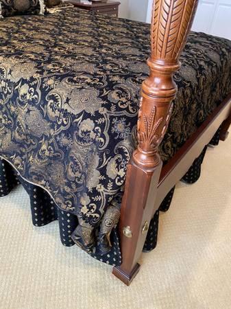 Photo Seven piece Kincaid Cherry bedroom set. - $2,800 (Hazard)