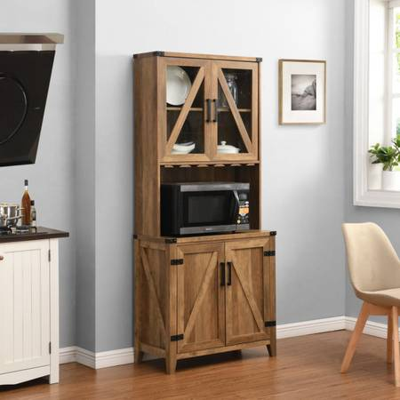 Photo Wall Bar Cabinet with Glass Doors, Brand New. - $300 (Ironton)