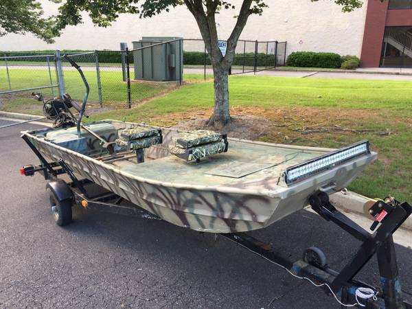 Photo 16 Duck Boat with Mud Motor - $2,000 (Cumming)