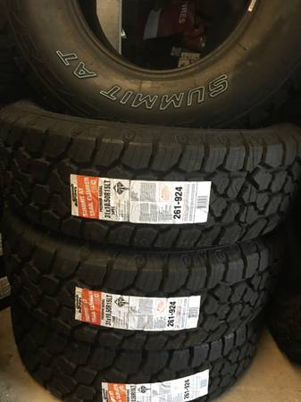 31x10.50R15 A.T. Truck Tires - $120 (Elkmont)