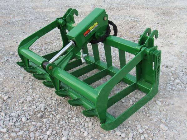 Photo 48quot Root Rake Grapple Fits John Deere Compact Tractor Loader - $795 (Huntsville, AL)