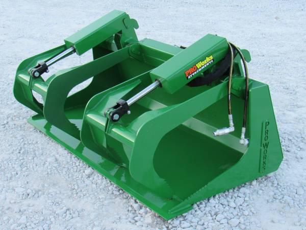 Photo 60 Compact Tractor Solid Bottom Bucket Grapple Fits John Deere - $1,095 (Huntsville, AL)