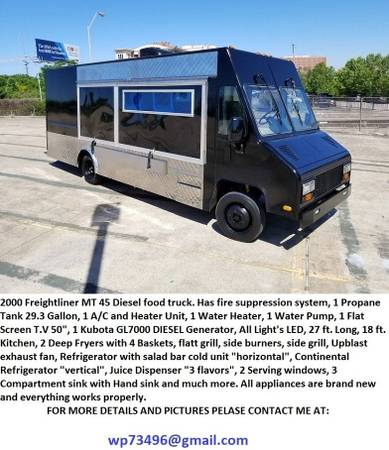 Photo Equipped Food Truck on sale - $25,000
