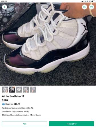 Photo Jordan concord 11 mens 9 jordan 11 ceremony gold mens 9.5 - $200 (Huntsville)
